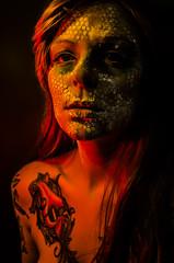Tallows 4 (Jef Harris) Tags: portrait colorful patterns ottawa makeup muse mua homestudio creativemakeup ottawamodel