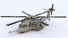 MH-53J  Pave Low (TheRookieBuilder) Tags: lego render helicopter rotors pavelow legodigitaldesigner mh53j bluerender