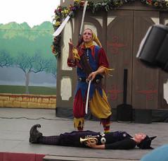 Still Juggling, But Someone's Flash Got in the Shot (Robb Wilson) Tags: juggling renaissance renaissancefaire irwindale jugglingact clantynker jugglingswords 2016renaissancepleasurefaire