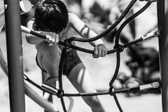 play ground struggle (r3ddlight) Tags: blackandwhite playground asian sony asianboy sonya6300 sony85mmgm