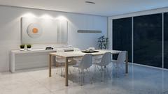 SALA JANTAR - NOITE (domcio ferreira) Tags: art arquitetura cores design 3d arte interiores decorao quadros projetos telas maquetes