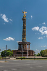 Berliner Siegessule - HDR (bohnengarten) Tags: berlin germany deutschland eos capital hauptstadt siegessule viktoria goldelse 70d