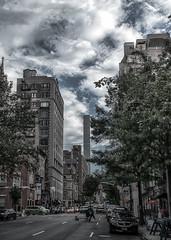 Madison South (John Bauder Photo) Tags: street nyc newyork cars clouds canon us unitedstates hdr highdynamicrange multipleexposures bracketedphotos eos70d