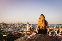 Istanbul explorations. (MrJSparks) Tags: travel people rooftop turkey landscape prime cityscape fuji istanbul adventure oldcity eminonu fixedlens x100 buyukvalidehan x100t