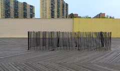 Stripes but no Stars (Robert Saucier) Tags: newyorkcity newyork building wall architecture brooklyn coneyisland boardwalk mur trottoir img2629