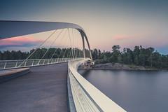 Grandfather's Bridge (Ville Airo) Tags: bridge urban architecture finland landscape twilight helsinki construction grandfather pedestrian mustikkamaa silta kalasatama isoisnsilta farfarsbron