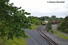 216 approaches Portarlington, 27/6/16 (hurricanemk1c) Tags: irish train gm timber rail railway trains railways irishrail 201 216 generalmotors portarlington 2016 emd iarnrd ireann belmond iarnrdireann ladentimber 1105westportwaterford