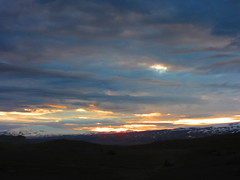 IMG_7228 (NapoleonIsNotDead) Tags: ocean sunset red sun mountain sunshine landscape iceland colorful view south hill vik glacier promontory dyrhlaey solheimajokull reynisfjall myrdalur