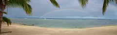 Wow factor (Magryciak) Tags: ocean trip travel sea sky holiday colour beach water outside outdoors island lumix rainbow pacific palm panasonic tropic cookislands rarotonga awe chill travelogue islandlife 2015