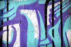 Art of the Underground IV (Photato Jonez) Tags: bridge blue white black color alex graffiti design paint day shadows purple state michigan farm vibrant lansing east lane midday splatter
