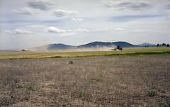 Farming the high desert (ASHLANDJET) Tags: color 120 film oregon analog mediumformat landscape kodak farm voigtlander farming vintagecamera 6x9 portra400 fortrock bessaii vintagefolder colorskopar105mmf35