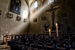 someone pray for me! (elia_casella) Tags: light italy church window fire chair nikon italia candle chairs god jesus chiesa finestra soul dio inside anima sedia candela ges fasciodiluce