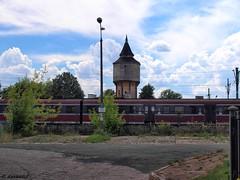 Wiea cinie w Dblinie / Water tower in Deblin (darkadi1) Tags: tower water station watertower poland polska railway olympus railwaystation wiea dblin wieacinie cinie mzuiko m1442mm epl6