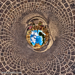 Qalaoid (TJ.Photography) Tags: city travel sky urban panorama church architecture circle town floor ground 360 tunnel malta twirl swirl piazza maltese circular gozo qala pjazza