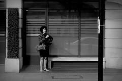 take a break (luneyes) Tags: woman streets london monochrome hotel streetphotography smoking londonstreetphotography