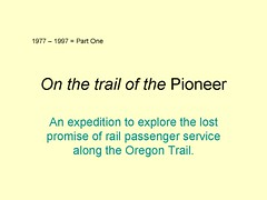 Slide2 - Pioneer (R. W. Rynerson) Tags: oregon train washington colorado transport idaho amtrak transportation wyoming pioneer superliner amfleet