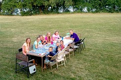 Summer fun (The Kingery Family) Tags: family pink blue music black grass sisters table fun purple singing chairs baseball bluegrass outdoor brother auntie smiles siblings neice nephew harmony meal kingery