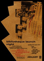 Bibliotheque Launch Night, Aid & Abet (possible_area) Tags: cambridge bibliotheque anarchitecture djnochexxx aidandabet possibleareaaudiovisual solinahifi lesaventuressouslamer cambridgesuper8 andrewtcross