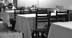 Evening's End (pjpink) Tags: blackandwhite bw restaurant virginia spring chairs bistro richmond tables april dining rva 2012 carytown pjpink amourwinebistro
