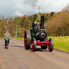 Speed1 1911 Steam Engine (saxman1597) Tags: england bike museum landscape spring nikon transport historic cycle steamengine edwardian beamishmuseum classictransport edwardiancostume steameven2012beamishmuseum