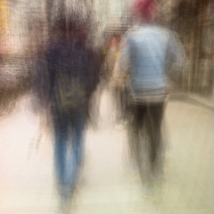 Dagens foto - 175: Jimmy Jazz (petertandlund) Tags: street city longexposure shadow red people woman man motion blur color silhouette walking square blurry shadows sweden stockholm dream streetphotography clash dreamy 365 redhair sthlm icm 08 jeansjacket slowshutterspeed drottninggatan norrmalm 175365 intentionalcameramovement intenionalcameramovement