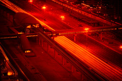 Where Sleeping Robots Lie (Hans Maso) Tags: night canon highway dubai metro uae 5d 135mm markiii ef135mmf20l canoneos5dmarkiii