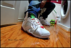 Hare Jordans for today... (Never Wear Them) Tags: red white black never green hare flickr track you air 7 nike wear jordan jacket what them did today vii niketalk jordans wdywt aj7
