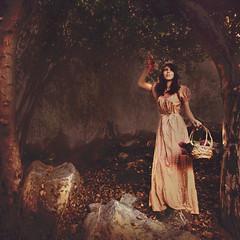 Seek A Painterly Dream (melinadesantiago) Tags: selfportrait painterly nature fruit fairytale vintage dreamy dreamlike