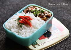 curry-rice-obento-lunchbox (Token-Bento) Tags: japan cat curry bento neko lunchbox kare bentobox obento benishoga kareraisu kutusitanyanko