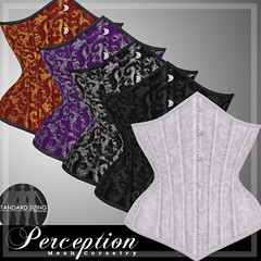 *Perception* Damask Underbust Corsets (Maggiedoll Alter) Tags: perception secondlife corset