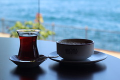 (Aisha~) Tags: blue sea summer turkey tea istanbul turkish aisha 2012 aishamud