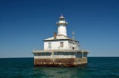 Fourteen Foot Shoal Lighthouse, MI (hatchski) Tags: ocean light sea lighthouse lake beach mi foot coast lighthouses michigan great lakes greatlakes shore lakehuron shoal fourteen cheboygan fourteenfootshoal
