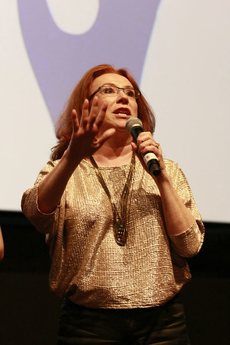 Melanie Hill after the screening of Unconditional at the Cineworld