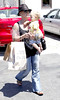 Pink, real name Alecia Moore, and daughter Willow Hart leaving the Malibu Cross Creek mall Los Angeles, California