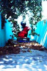 Cant Stop the Journey Now (tatadbb) Tags: blue red portrait woman cloud snow verde green love girl leaves azul canon garden hair hojas 50mm mujer rojo legs song retrato amor venezuela nieve mulher jardin things hallway cult million suitcase trap pasillo cancion maleta cabello 057 piernas atrapada 1000d