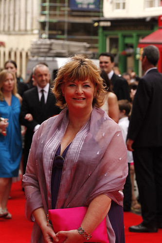 Fiona Hyslop MSP on the red carpet for the European premiere of Brave at the Festival Theatre