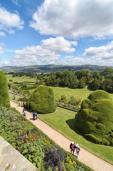 View from a Terrace (rob_rin) Tags: park uk trees people wales garden nikon tamron nationaltrust 2012 dx powiscastle colorefex 1116mm d7000
