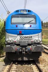 335-001 front (Escursso) Tags: barcelona spain diesel electro motive emd 335 castellbisbal vossloh comsa euro4000 335001