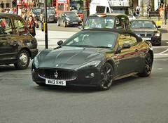 Maserati Gran Cabrio (kenjonbro) Tags: uk black london westminster trafalgarsquare convertible cabrio charingcross maserati 2012 sw1 kenjonbro grancabrio fujihs10 wa12ehs
