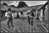 Beamish stables (Donald Parsons) Tags: horses monochrome beamish cobbles stables