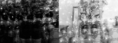 Apparent (Aubrey Ortiz) Tags: two bw white black girl photoshop self beads diptych manipulate apparent felmale