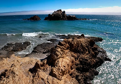 pacific (Benzadrine) Tags: ocean california blue panorama beach cali composite sand aqua waves pacific bigsur pfeifferstatepark