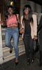 Alexandra Burke leaving Aura nightclub with her sister Sheneice Burke at 3.45am. London, England