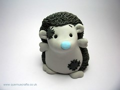 Wee Konker from Blue Nose Friends (Quernus Crafts) Tags: hedgehog commission konker bluenosefriends polymerclayquernuscraftscute