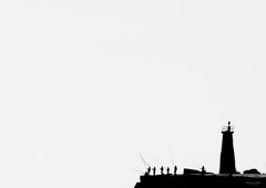 HK Fishing (Paulo_Veiga) Tags: sea blackandwhite bw hk lighthouse white black men blanco portugal water monochrome água branco backlight bar composition canon river contraluz boats photography eos rebel photo blackwhite high fishing fisherman key europe flickr foto tag group picture silhouettes scout pb preto minimal fotografia minimalism geotag 18200 blanc ria 2012 aveiro fishery monocromático 18200mm riadeaveiro 550d t2i pauloveiga lens18200mm ilustrarportugal altaluz fishinghigh canon550d canoneos550d canonlens18200mm paulveiga