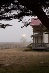 The Point Cabrillo Light (Don McCullough) Tags: california lighthouse fog highway1 mendocinocounty pointcabrillo