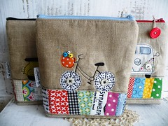 new ones ... (monaw2008) Tags: handmade fabric pouch scraps patchwork applique utensilo monaw monaw2008
