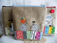 new ones ... (monaw2008) Tags: handmade fabric pouch scraps patchwork applique utensilo monaw monaw2008