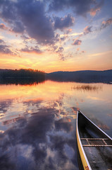 Ready for a Ride (Matt Champlin) Tags: life camping friends sunset summer camp vacation lake mountains reflection nature canon boat quiet peace hiking perspective calming adirondacks calm canoe boating wife upstatenewyork canoeing adk 2012 brownstractpond