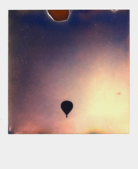 Hot Air Balloons in the Night (josh_martin) Tags: sunset summer hot balloons polaroid photography image time air ballon instant hotairballoon polaroids nightsky slr680 roids impossible roid polaroid680 impossibleproject